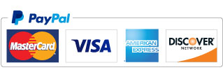 PayPal accepts MasterCard, Visa, American Express, Discover and more.